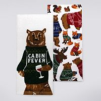 St. Nicholas Square® Forest Animals Kitchen Towel 2-pk.