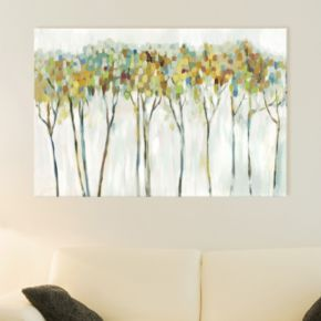 Artissimo Designs Marble Forest Canvas Wall Art