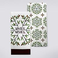 St. Nicholas Square® Winter Wishes Kitchen Towel 2-pk.