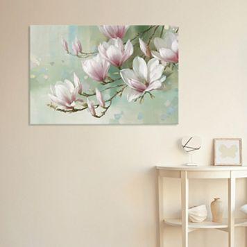 Artissimo Designs Magnolia Morning Canvas Wall Art