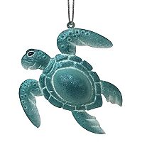 St. Nicholas Square® Metal Bell Turtle Christmas Ornament
