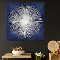 Artissimo Designs Silver Starburst Canvas Wall Art