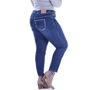 Juniors' Plus Size Amethyst High-Waist Skinny Jeans