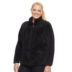 Plus Size FILA SPORT® Bari Sherpa Fleece Jacket