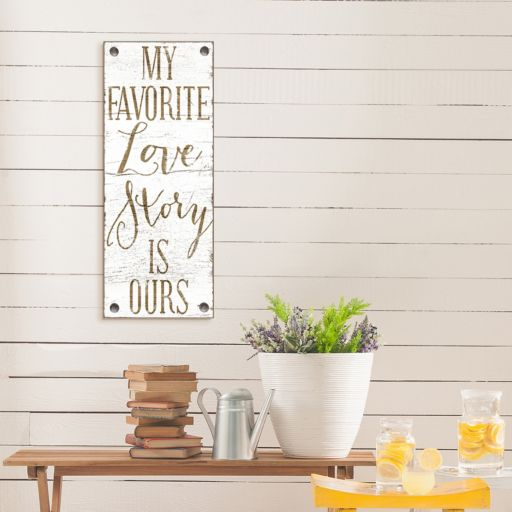 "Artissimo Designs ""Love Story"" Canvas Wall Art"