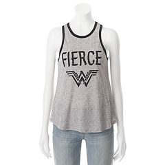 Juniors' DC Comics Wonder Woman 'Fierce' Racerback Graphic Tank
