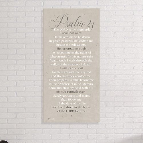 "Artissimo Designs ""Psalm 23"" Canvas Wall Art"
