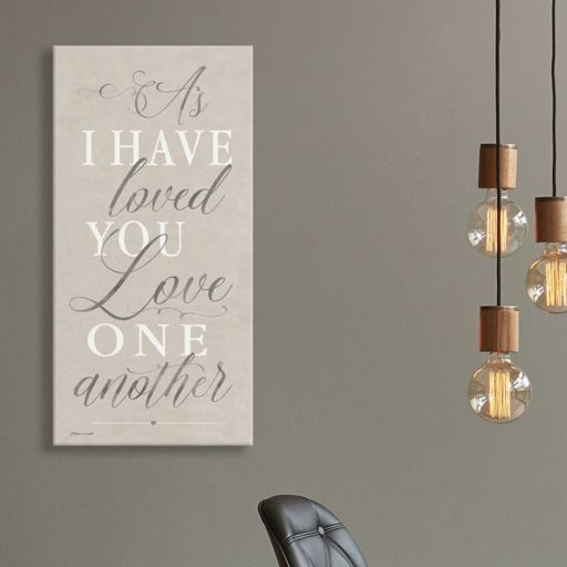 "Artissimo Designs ""As I Have Loved You"" Canvas Wall Art"