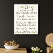 Artissimo Designs 'God Is Great' Canvas Wall Art