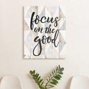 Artissimo Designs 'Focus On The Good' Canvas Wall Art