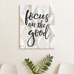 Artissimo Designs 'Focus On The Good' Canvas Wall Art