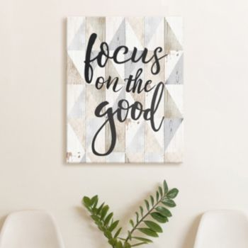 "Artissimo Designs ""Focus On The Good"" Canvas Wall Art"