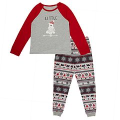Girls 4-16 Cuddl Duds Family Jammies Little Bear Top & Fairisle Bottoms Pajama Set