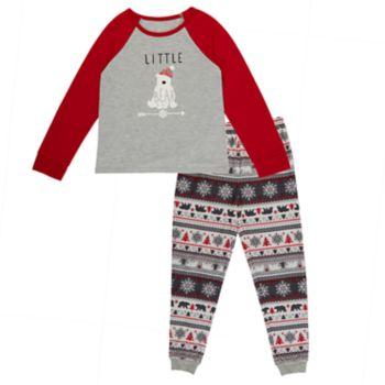 Girls 4-16 Cuddl Duds Family Jammies Little Bear Top & Fairisle Bottoms Pajama Set