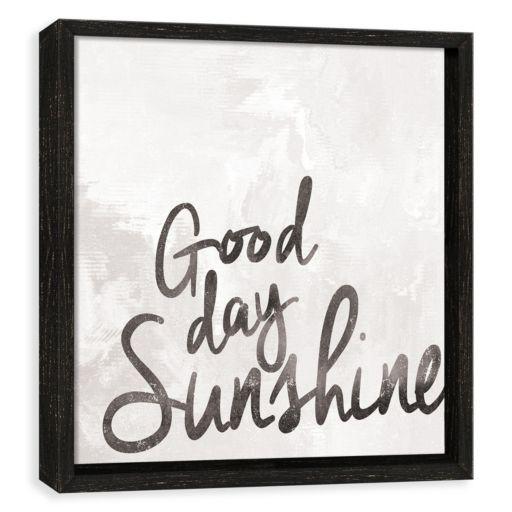 """Artissimo Designs """"Good Day Sunshine"""" Framed Wall Art"""