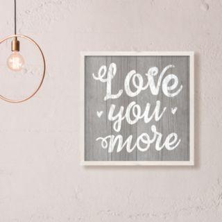 "Artissimo Designs ""Love You More"" Framed Wall Art"