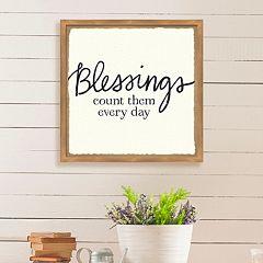 Artissimo Designs 'Blessings' Framed Wall Art