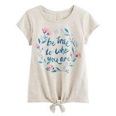 Girls 4-12 SONOMA Goods for Life™ Graphic Tie-Front Tee