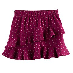 Girls 4-12 SONOMA Goods for Life™ Ruffle Printed Skort