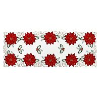 St. Nicholas Square® Poinsettia Cutout Table Runner - 36