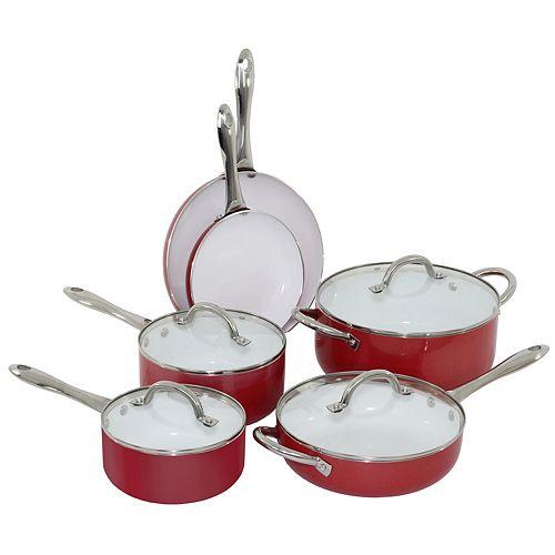 Oneida 10-pc. Ceramic Cookware Set