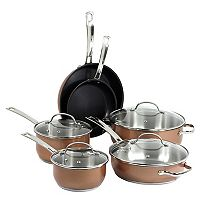 Oneida 10 pc Stainless Steel Copper Cookware Set