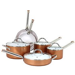 Oneida 10-pc. Aluminum Copper Cookware Set