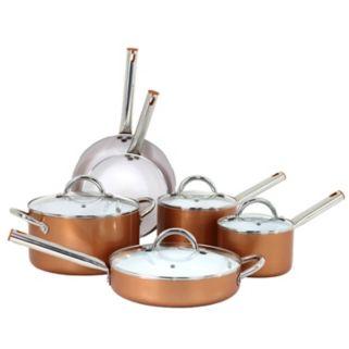 Oneida 10-pc. Aluminum Copper Cookware Set