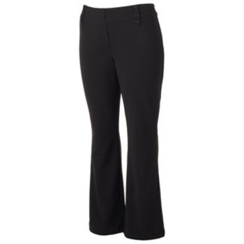 Juniors' Plus Size Joe B Pull-On Bootcut Pants