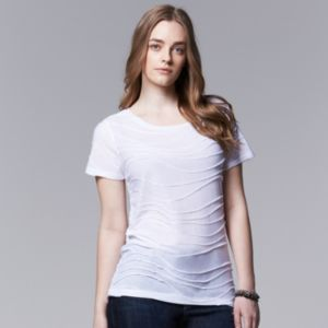 Plus Size Simply Vera Vera Wang Windy Jacquard Scoopneck Tee