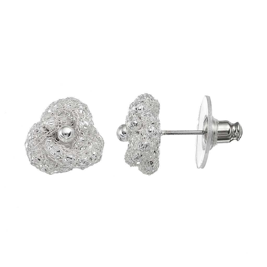 Napier Mesh Nickel Free Knot Stud Earrings