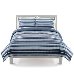 The Big One® Variegated Stripe Print Quilt Set