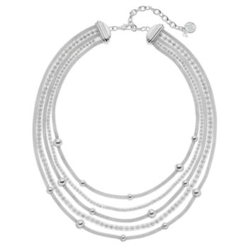 Dana Buchman Beaded Mesh Multi Strand Station Necklace
