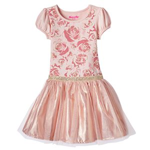 Toddler Girl Nannette Floral Glitter Mesh Dress