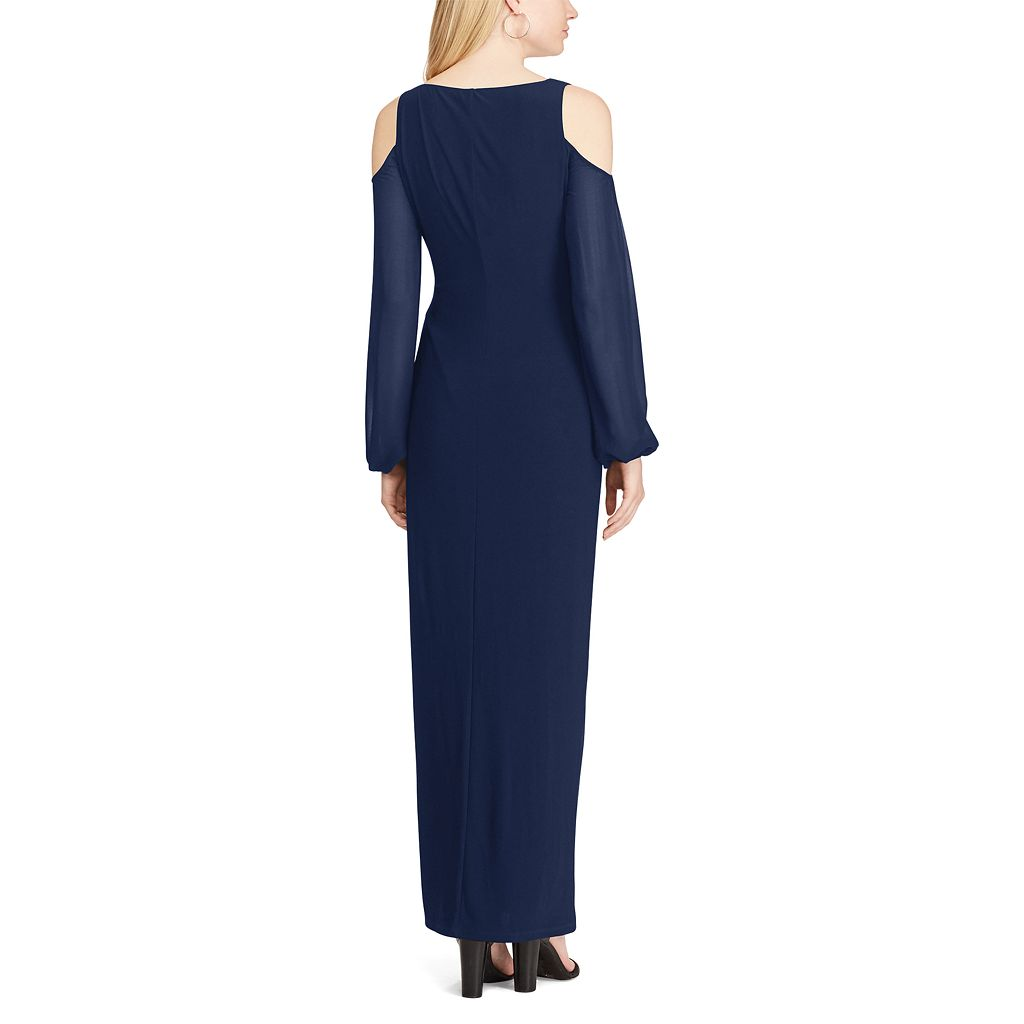 Women's Chaps Cold-Shoulder Georgette Evening Gown