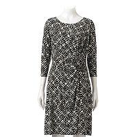 Petite Dana Buchman Printed Faux-Wrap Dress