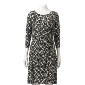 Petite Dana Buchman Printed Faux-Wrap Dress