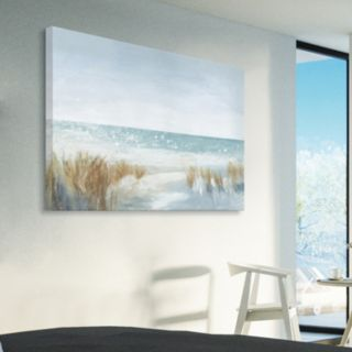 Artissimo Designs Soft Beach Canvas Wall Art
