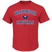 Big & Tall Majestic Washington Capitals Team Color Tee