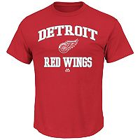 Big & Tall Majestic Detroit Red Wings Team Color Tee