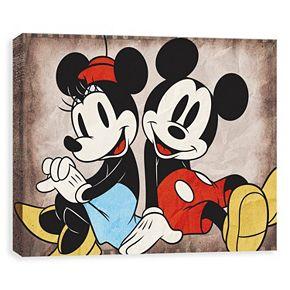 Disneys Mickey Mouse Minnie Canvas Wall Art
