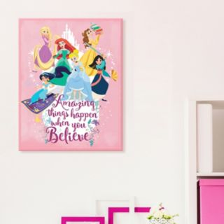 "Disney Princess ""Believe"" Canvas Wall Art"