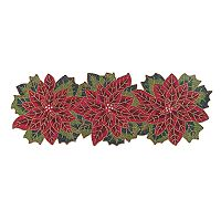 St. Nicholas Square® Beaded Poinsettia Table Runner - 36