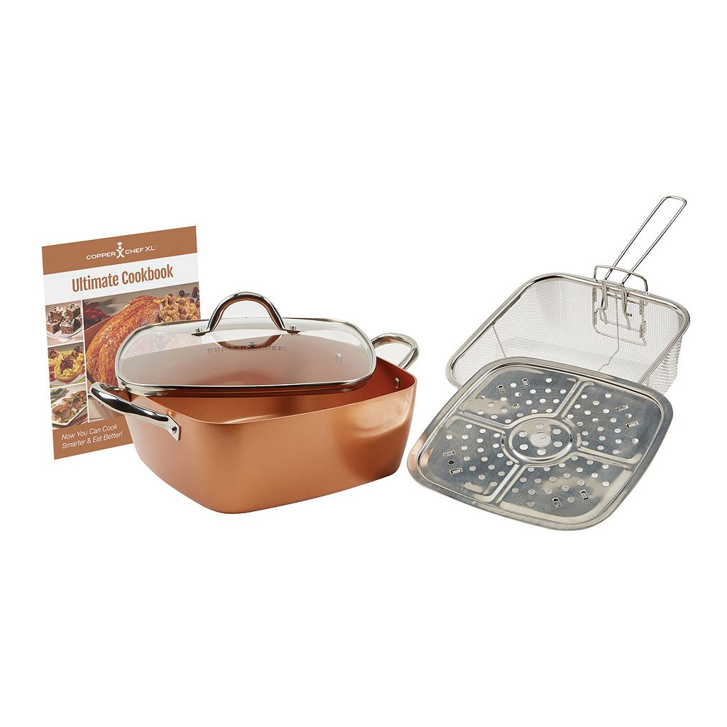 As Seen on TV Copper Chef XL 5-pc Casserole Pan Set
