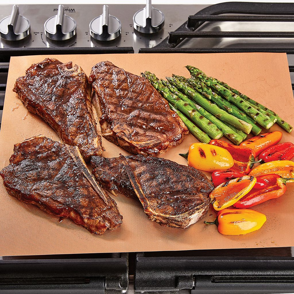 As Seen on TV Copper Chef Grill & Bake Mat 2-pack