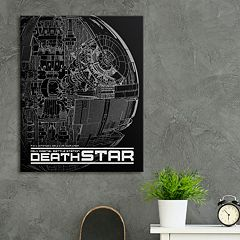 Star Wars 'Death Star' Canvas Wall Art