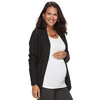 Maternity a:glow Black Open-Front Cardigan