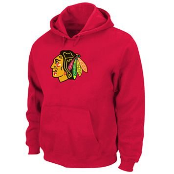 Big & Tall Majestic Chicago Blackhawks Logo Hoodie