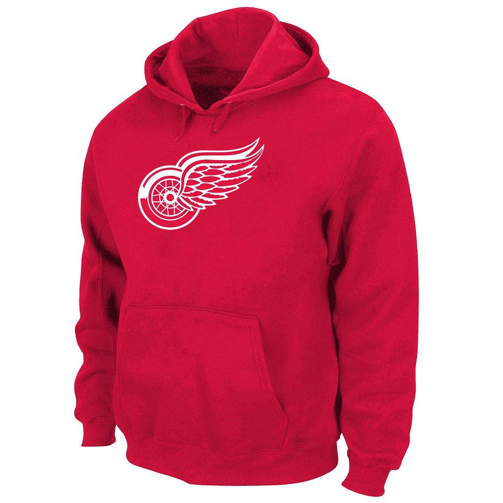 Big & Tall Majestic Detroit Red Wings Logo Hoodie