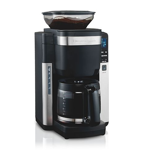 Hamilton Beach 12-Cup Coffee Maker with Automatic Grounds Dispenser